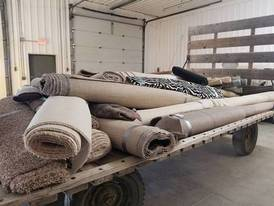 New Carpet & Linoleum Rolls of 12-16-17 Flaskerud Household, Collectible & New Overstock Items, Including Flooring.