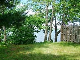 Backyard Waterview of 323 Lakeshore Dr