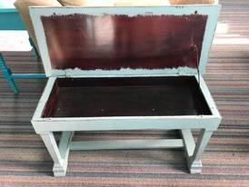 Blue Bench inside of 12-13-17 West Household & Collectibles Auction