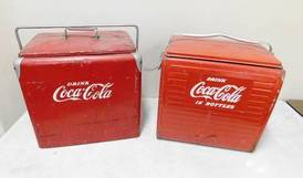 Coca-Cola Coolers of 12-13-17 West Household & Collectibles Auction