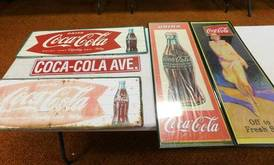 Coca-Cola Metal Signs of 12-13-17 West Household & Collectibles Auction