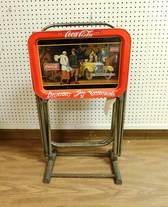 Coca-Cola TV Trays of 12-13-17 West Household & Collectibles Auction