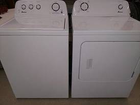Matching Amana Washer & Dryer of 12-16-17 Flaskerud Household, Collectible & New Overstock Items, Including Flooring.