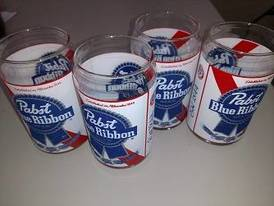 PBR Glasses of 12-16-17 Flaskerud Household, Collectible & New Overstock Items, Including Flooring.
