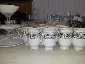 China of 12-16-17 Flaskerud Household, Collectible & New Overstock Items, Including Flooring.