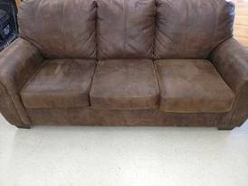 Brown Couch of 12-16-17 Flaskerud Household, Collectible & New Overstock Items, Including Flooring.