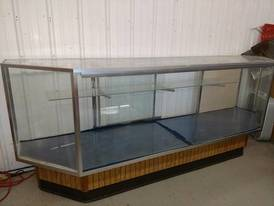 Commercial Glass Display Case of 12-16-17 Flaskerud Household, Collectible & New Overstock Items, Including Flooring.