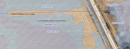 Flood risk mapping est. detail  of Bluffton Road